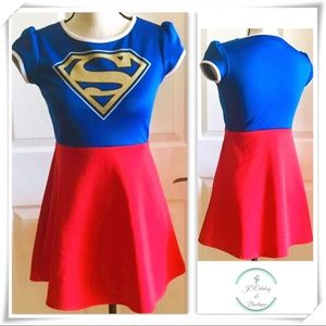 Supergirl Dress Costume Girls Size XL 14/16